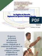 LOE y Reglamento del Ejercicio Profesional Docente