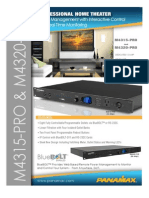 Panamax M4315-PRO and M4320-PRO BlueBOLT Power Management System Product Spec Sheet