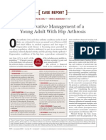 Conservative Management of a Young Adult With Hip Arthrosis