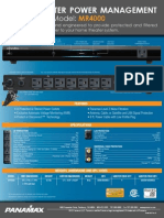 Panamax MR4000 Home Theater Power Management System Spec Sheet