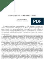 GUIDO GOZZANO ENTRE POESÍA Y PROSA (fin 19s, début 20s)