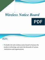 Wireless Notice Board