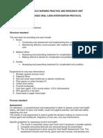 Oral Care Protocol