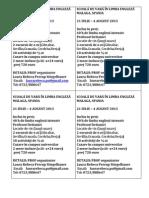 SCOALĂ DE VARĂ ÎN LIMBA ENGLEZĂ - flyer