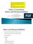 Ethics Committee Roles and Responsibilities - by Dr. Shiva Murthy N