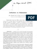Lathyrism AFG 1953 Par Miles