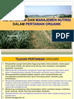 Aspek Tanah Pertanian Organik (Revisi 2013)