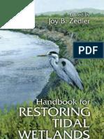 084939063X - CRC - Handbook for Restoring Tidal Wetlands - (2000)