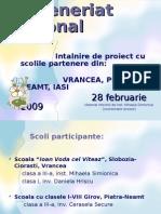 Parteneriat interjudetean ECO-ART (intalnirea de proiect)