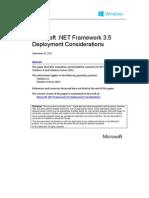 Microsoft .Net 3.5 Deployment Considerations