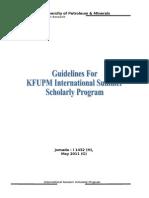 Intl Summer Scholorly Program Guidelines-2011