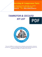 Tamrotor Ceccato Kit List 2009