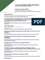 Aanbevolen artikelen over de One People's Public Trust ( deel 2 ), chronologisch + linkjes