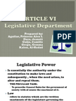 Article Vi Philippine constitution (legistative department)