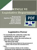 Article Vi Philippine constitution (legistative department)