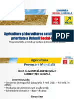 Agricultura-prioritate Nationala Usl