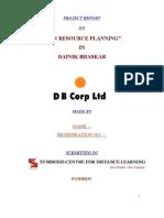 HR+Planning+in+Dainik+Bhaskar+ +Project+Report+as+Per+SCDL+Format