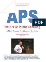 Art of Public Speaking