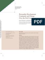 Dan McAdams & Olson [2010] Personality Development