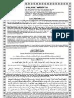 Lembaran Sholawat Wahidiyah (Arab Dan Arti)