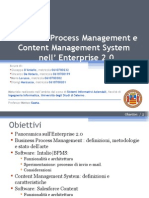 Business Process Management e Content Manager System nell'Enterprise 2.0