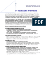 Pharmacy Admissions Interviews