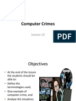 MMT111 Lesson 13 E-Crime