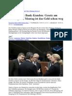 EU Enteignet Bank-Kunden- Gesetz Am Sonntag Am Montag Ist Das Geld Schon Weg
