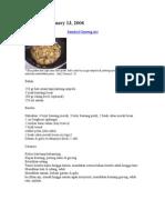 Resep Masakan Jawa Dan Aneka Gorengan
