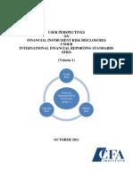 Financial Instruments Risk Disclosure Report Volume 1