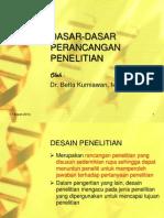 Dasar-dasar Perancangan Penelitian(Dr.betta)