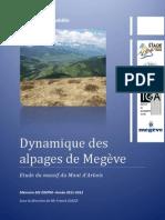 Dynamique des alpages de Megève