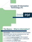 Basic Concepts on Information Technology