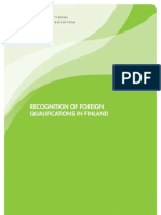124807 Recognition of Foreign Qulifications in Finland