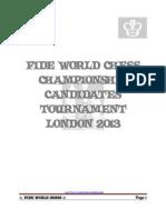 FIDE World Chess Championship Candidates London 2013
