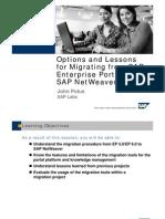 Migrating From SAP Enterprise Portal to NW Enterprise Portal