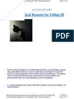 10 Psychological Reasons for Falling Ill