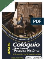 Anais Colóquio Nacional de Pesquisa Histórica