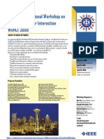 IEEE Workshop Agency in Media Networks - Deadline Extension until March 16, 2009