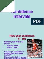 confidence intervals  Unit 8 1
