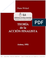 Welzel, Hans - Teoria de La Accion Finalista