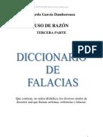 Argumentación - Diccionario de falacias - Ricardo García Damborenea - copia