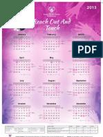 Hope Restoration Ministries - Calendar 2013