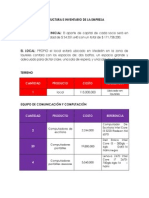 estructura e inventario de la empresa 1