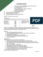 Job Order Costing - Questions