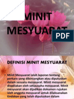 MINIT MESYUARAT