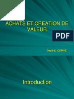 Achats Et Creation de Valeur