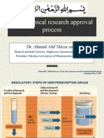MOH Clinical Research Approval Process. Dr. Ahmad Atif Mirza