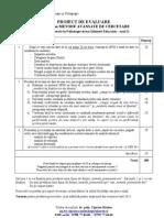 Proiect metode avansate 2012