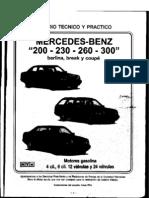 Manual de Taller Completo Mercedes-benz Carrocería w124 en Caste Llano - Todas Las Versiones Nota en Formato